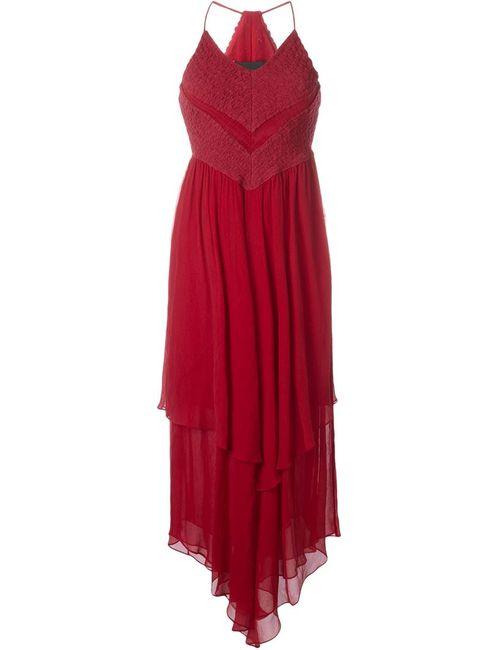 Jay Ahr | Женское Красное Платье С Асимметричным Подолом