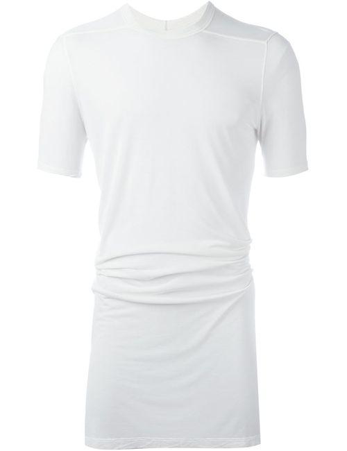 Rick Owens | Мужская Белая Удлиненная Футболка