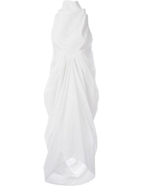 Rick Owens | Женское Белое Драпированное Платье