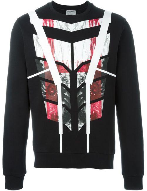 Les Hommes | Мужское Чёрный Geometric Pattern Sweater