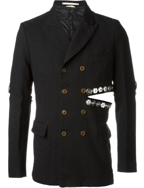 COMME DES GARCONS HOMME PLUS | Мужское Чёрный Snap Button Embellished Blazer