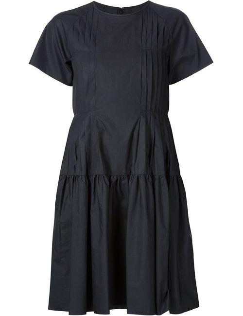 Vera Wang | Женское Чёрное Плиссированное Крестьянское Платье