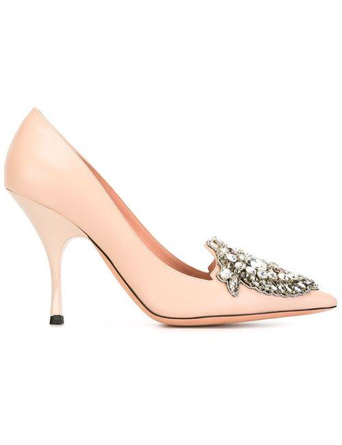 Rochas | Женское Розовый Embellished Stiletto Pumps