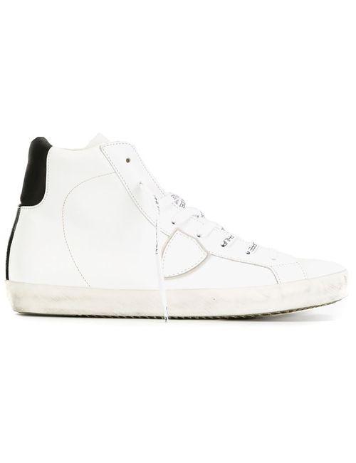 Philippe Model | Мужские Белые Кроссовки С Логотипом