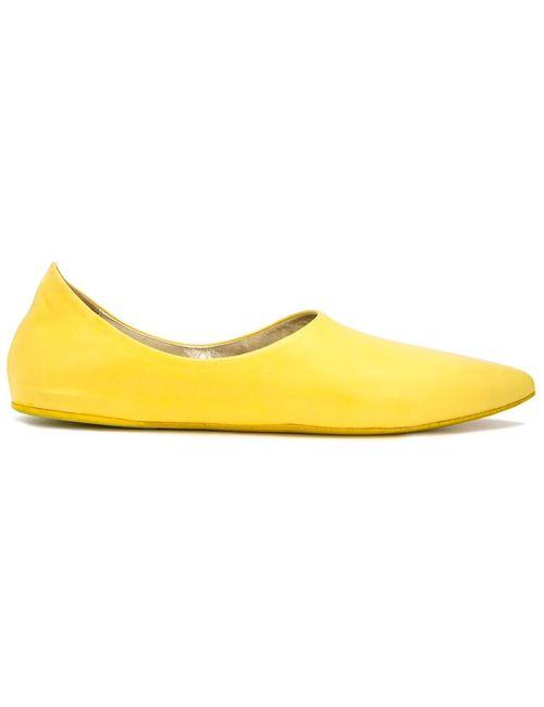 Marsell | Женское Желтый Pointed Toe Slippers