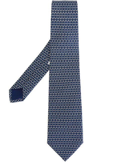 Hermès Vintage | Мужской Синий Галстук С Графическим Принтом