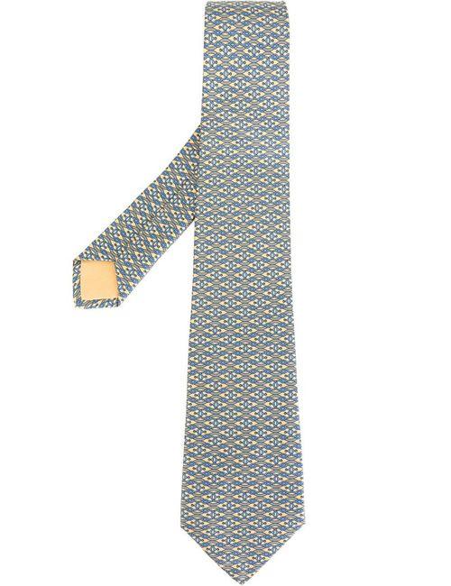 Hermès Vintage | Мужской Многоцветный Галстук С Волнистым Узором