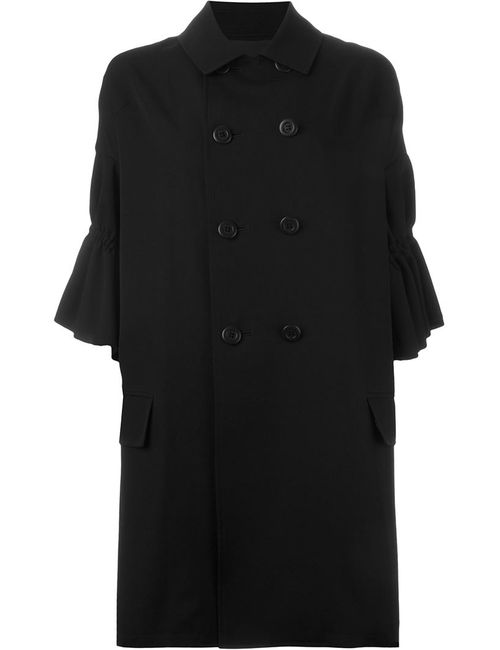 Yohji Yamamoto | Женское Чёрный Frill Sleeve Double Breasted Coat