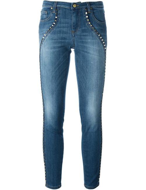 Versace Collection | Женские Синие Джинсы Кроя Скинни