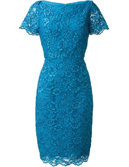 Diane Von Furstenberg | Женское Синее Кружевное Платье