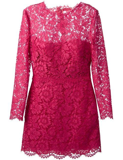 Valentino | Женское Розовый Lace Cocktail Dress