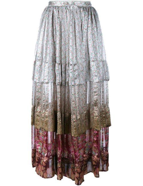 Etro | Женское Многоцветный Margot Pleated Silk Midi Skirt