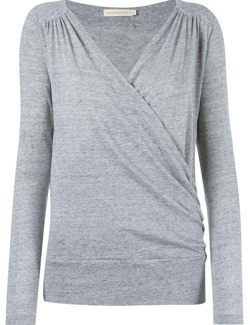 GIULIANA ROMANNO | Женское Серый Longsleeved Cache-Coeur Blouse