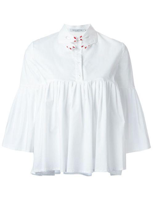 Vivetta | Женская Белая Рубашка Antea