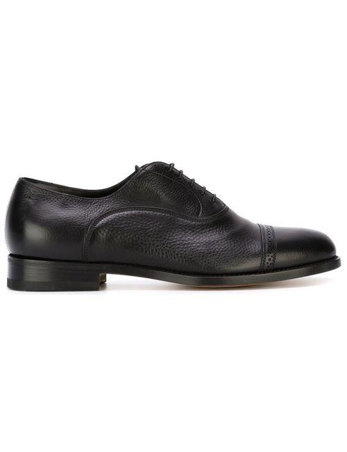 Santoni | Мужские Чёрные Классические Ботинки Дерби