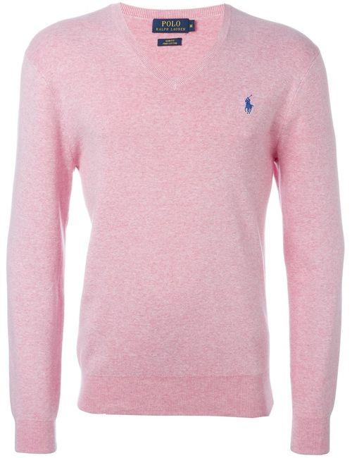 Ralph Lauren | Мужской Розовый Свитер С Логотипом