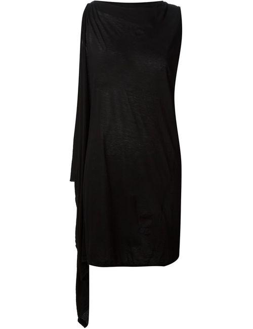 RICK OWENS DRKSHDW   Женское Чёрное Асимметричное Трикотажное Платье