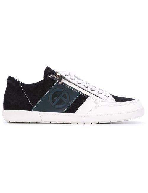 Giorgio Armani | Мужское Синий Side Zip Sneakers