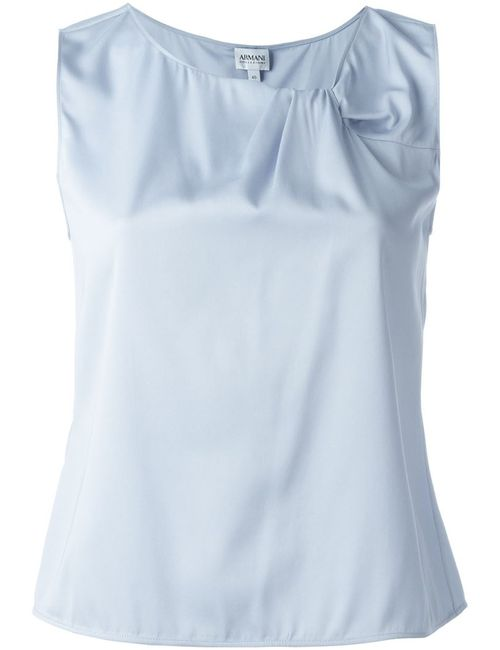 Armani Collezioni   Женское Серый Pleated Neck Top