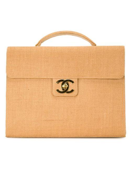 Chanel Vintage   Женский Коричневый Портфель Из Рафии