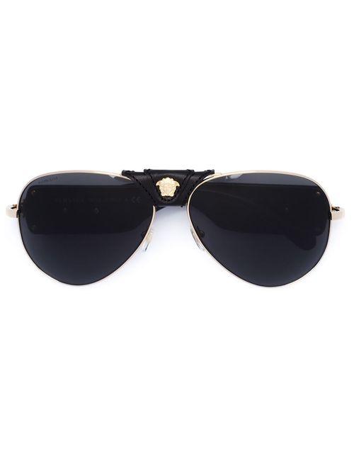 Versace   Женские Чёрные Солнцезащитные Очки Medusa