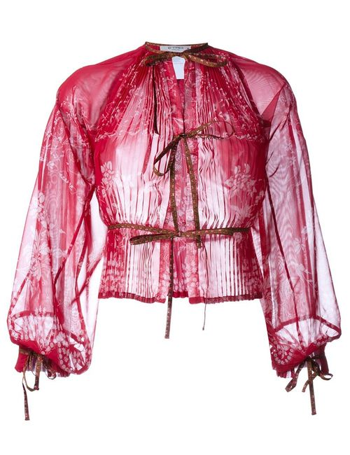 Etro | Женское Красный Josephine Pleated Print Blouse
