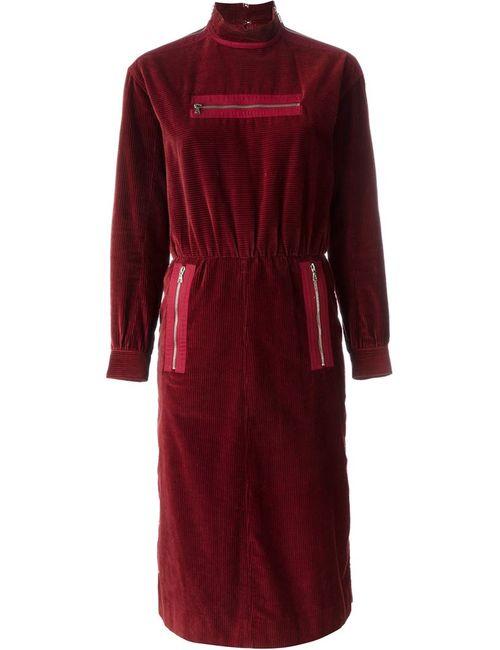 COURREGES VINTAGE | Женское Красное Платье С Карманами На Молнии