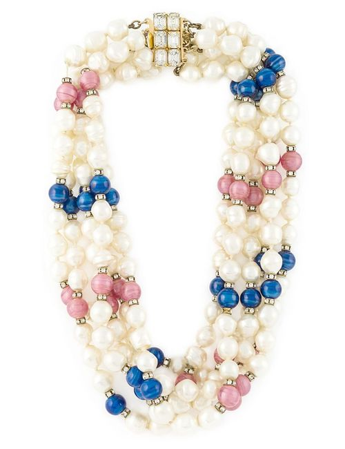 Celine Vintage | Женское Многоцветный Pearl Bead Necklace