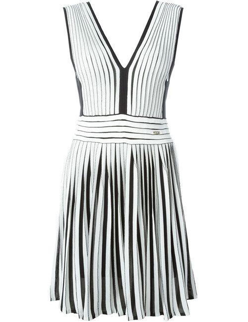 Just Cavalli   Женское Белое Расклешенное Платье