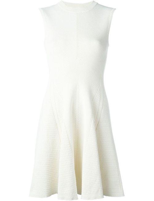 Victoria Beckham | Женское Белый Knitted Flared Dress
