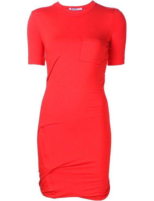 T By Alexander Wang | Женское Красный Twisted T-Shirt Dress
