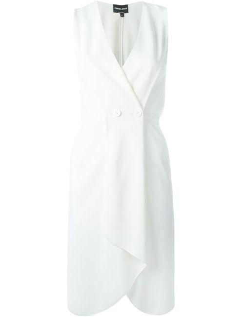 Giorgio Armani   Женское Nude & Neutrals Платье С Застежкой На Пуговицы