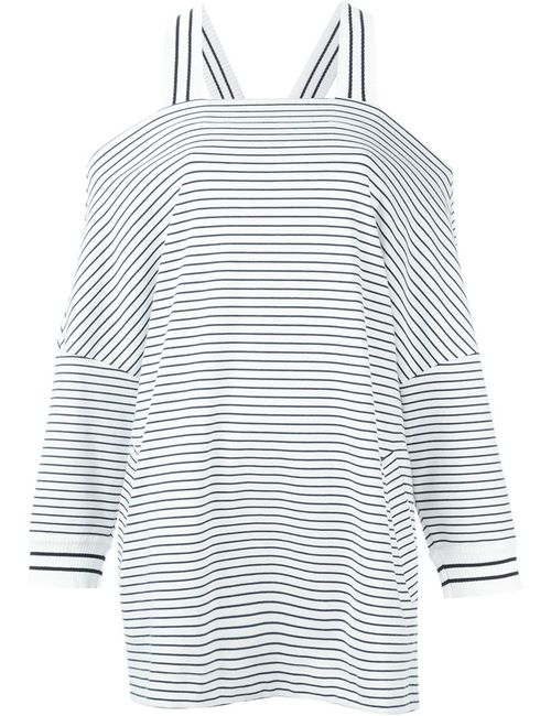I'm Isola Marras | Женское Чёрный Off-Shoulder Striped Sweatshirt