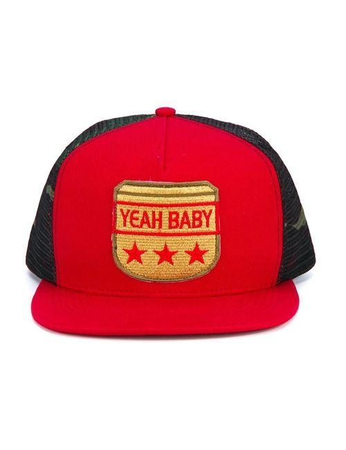 Saint Laurent | Мужское Красный Yeah Baby Flat Cap