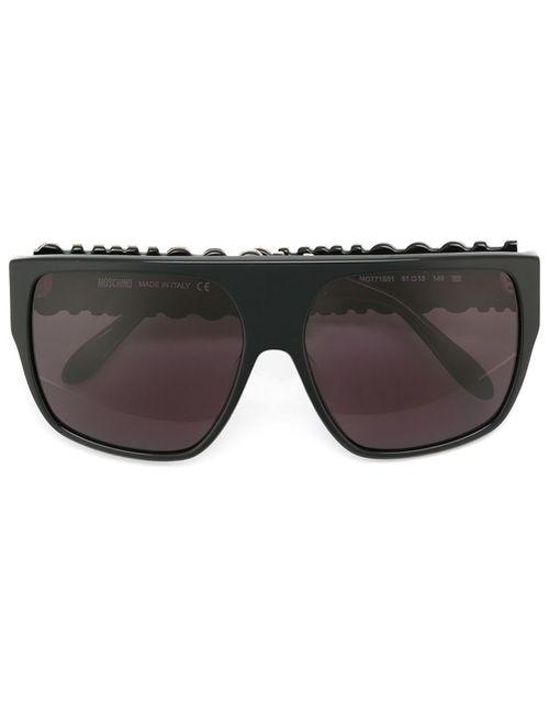 Moschino | Женские Чёрные Солнцезащитные Очки С Логотипом