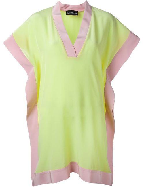 Marco Bologna | Женское Розовое Платье С Контрастным Подолом