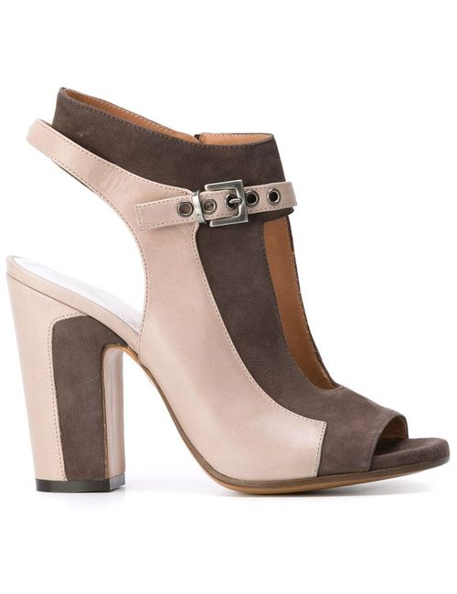 Maison Margiela | Женское Серый Panelled Cut-Out Sandals