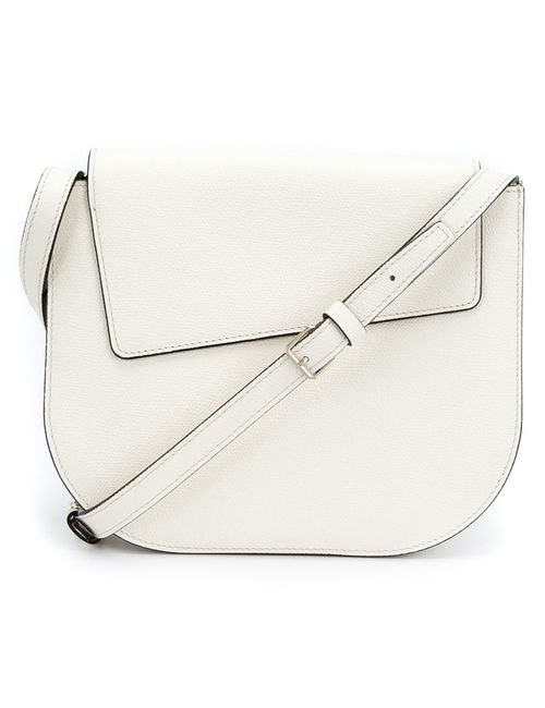 Valextra | Женское Белый Asymmetric Flap Cross Body Bag