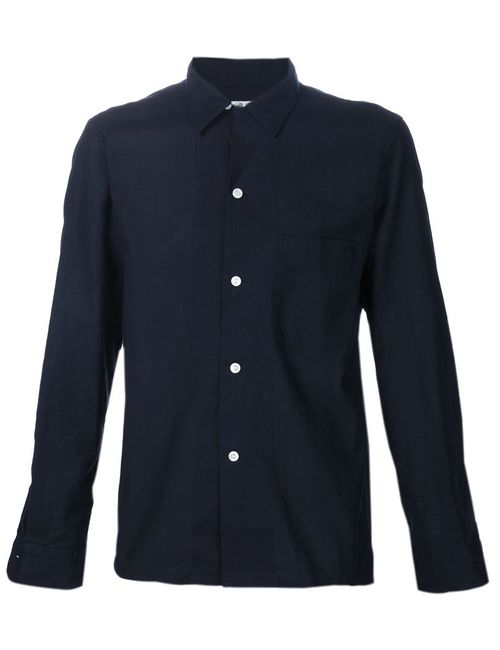 CAMOSHITA BY UNITED ARROWS   Мужское Синий Cotton Pique Pajama Shirt