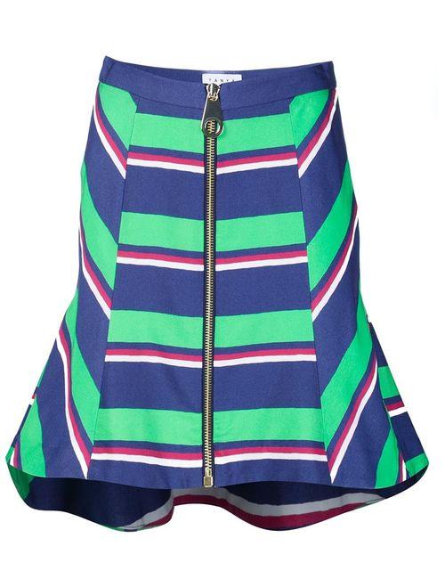 TANYA TAYLOR | Женское Зелёный Striped High Waisted Skirt