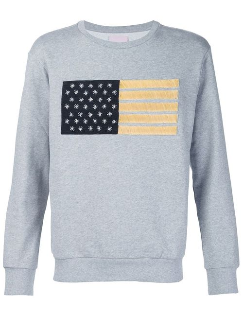 PALM ANGELS   Мужское Серый Flag Embroidery Sweater