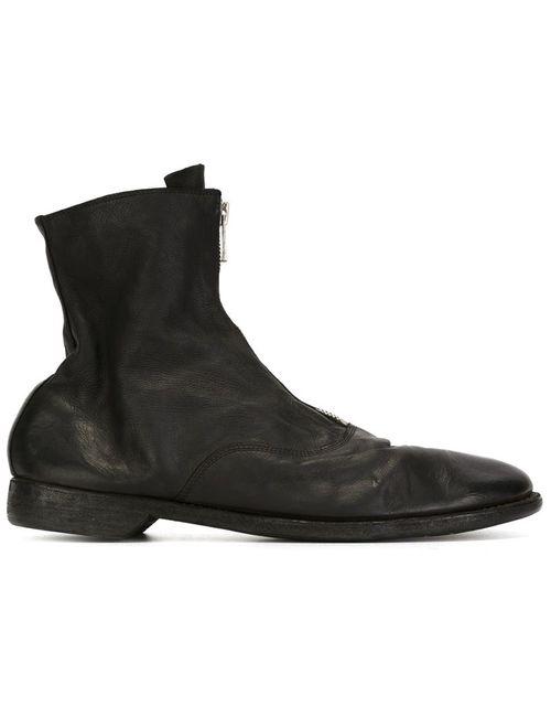 GUIDI | Мужское Чёрный Front Zip Boots