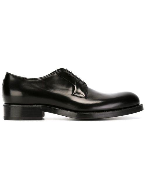 Raf Simons | Мужские Чёрные Классические Туфли На Шнуровке