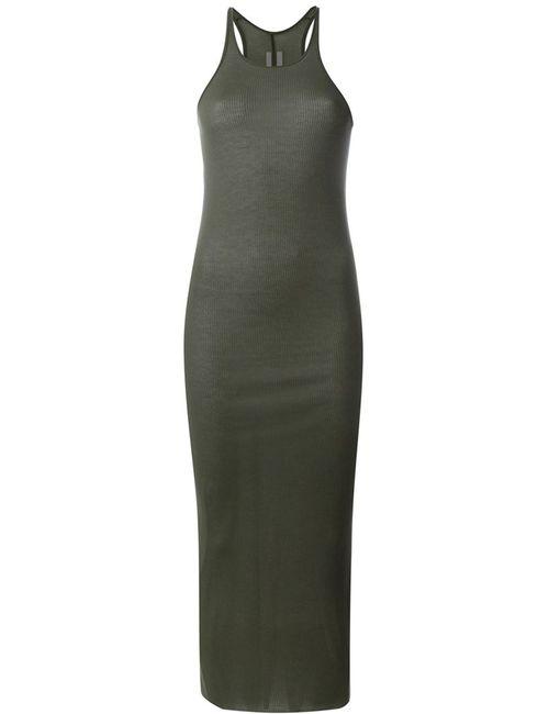 Rick Owens | Женское Зелёный Ribbed Tank Dress