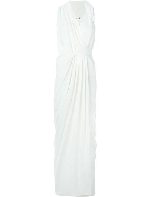 Rick Owens | Женское Белый Draped Wrap Maxi Dress