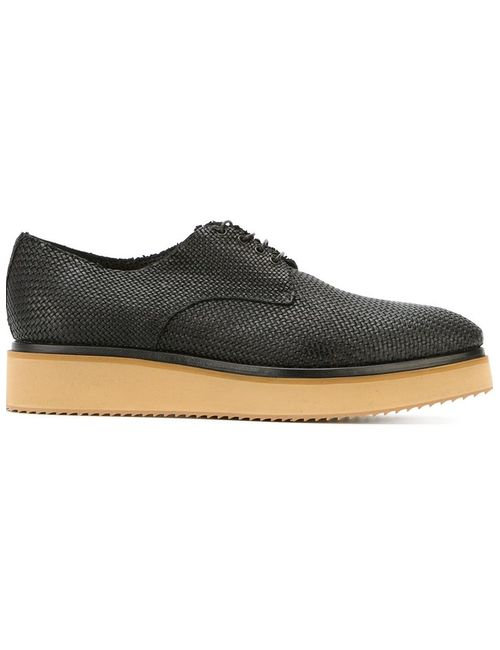 Raparo   Мужское Чёрный Contrasting Sole Lace-Up Shoes