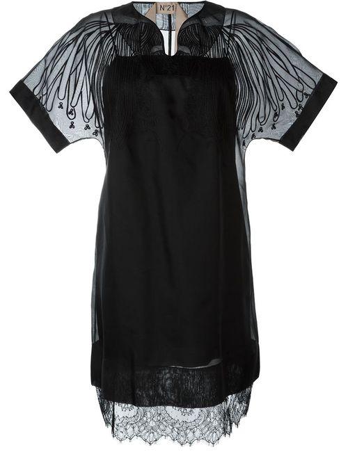 No21 | Женское Чёрный Double Layer Lace Dress