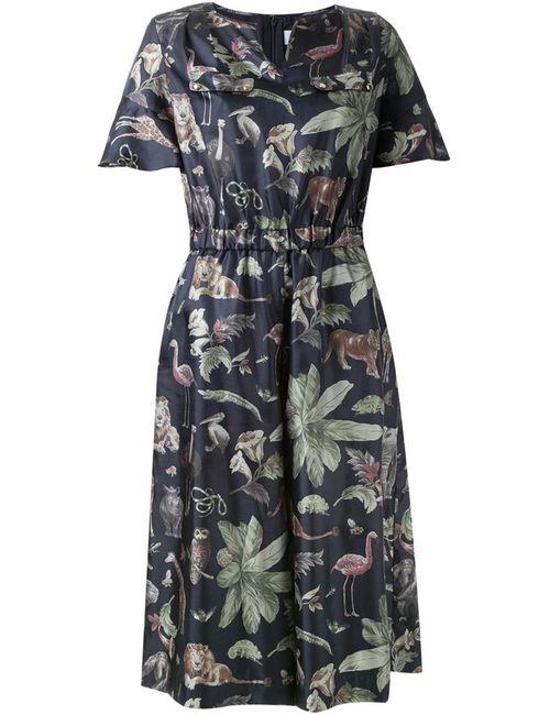 Muveil | Женское Синий Jungle Print Jumpsuit
