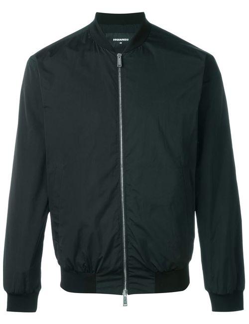 Dsquared2   Мужская Чёрная Классическая Куртка-Бомбер