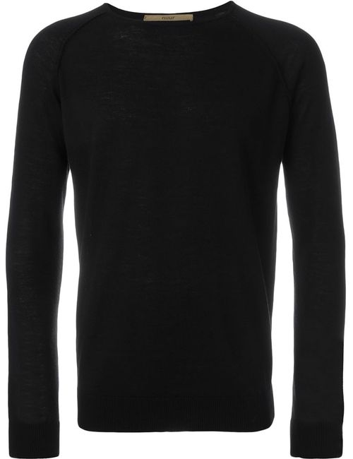 Nuur | Мужское Чёрный Raglan Sleeve Sweater